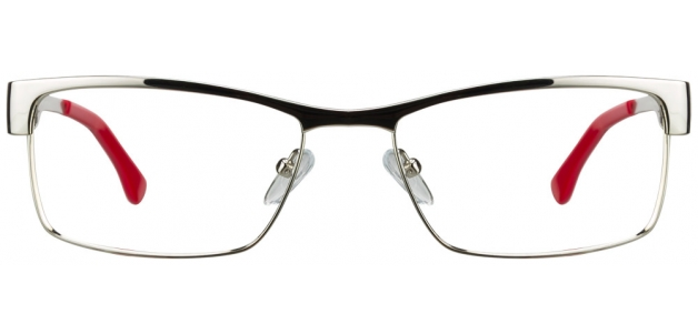 Vincent Chase VC 6305 Silver Red POPO Eyeglasses