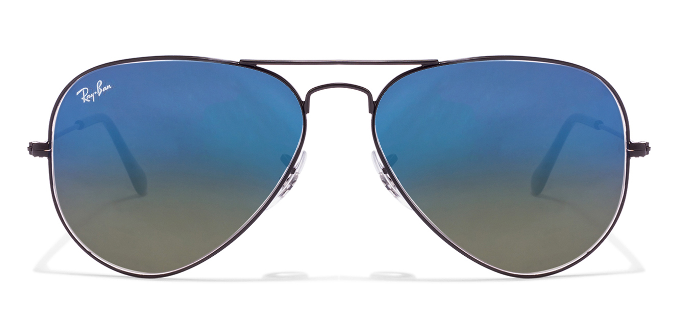 ray ban aviator black frame blue lens  ban light blue gradle colour sunglasses