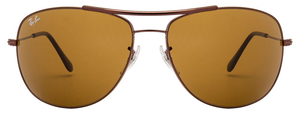 ray ban glass test  lux ray ban rb3412i_014 size 63 copper brown men metal sungl_m_2827